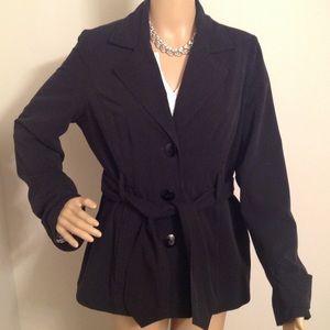 Cute black jacket ties in front size medium
